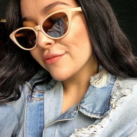 da767edcd Urban Outfitters Accessories   Slim Retro Cateye Sunglasses   Poshmark